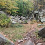Purgatory Chasm - Looking back up the valley from Devils coffin area