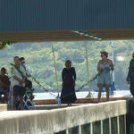 Dedication of the new Hanalei pier. May 2013.