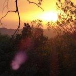 Sunset from caravan site