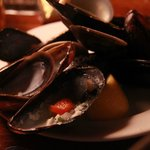 Mixed clams and mussels--sorry, ate 'em first--