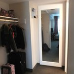 Closet area and Bathroom entrance in King Suite