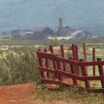 View of old sugar cane factory from CJM stables. The best ranch on Kauai!!!