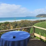 view from the front deck over breakfast