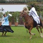 Marinera - Traditional Peruvian dance with a Chalan mounted on a Peruvian Paso