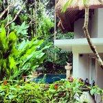 View as you walk into the villa