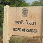The line of Tropic of Cancer in MP India