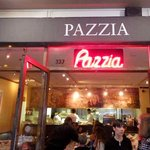 Entering Piazzia Restaurant & Pizzeria