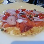 Citrus Smoked Salmon on a Flat Bread (at Rick's Cafe)