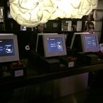 Kiosks meet you at the entrance