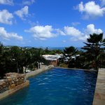 Airlie Beach and view from pool