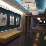 The lobby and common areas of the hotel feel happy and artful - very inviting.