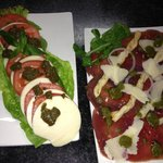 Our Basilico salad and our Beef Carpaccio