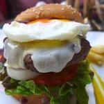 Texas Burger with Fried Eggs & Mozzarella cheese