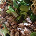 Green salad with Seared Poke...delish!!!