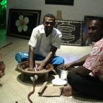 Activites after dinner every night, including this Kava Ceremony with Ice and Mak