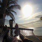 lazing in our hammock outside our room