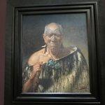 Portrait of a famous Maori warrior.
