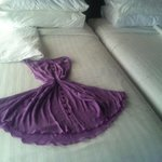 Left my dress out when housekeeping came. This is how they left it! Great example of how the sta