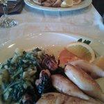calamari alla griglia con biete e patate