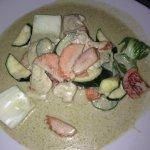 Riz poulet curry vert