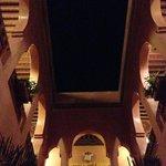 Riad at night.