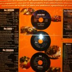 La carte des menus affichée