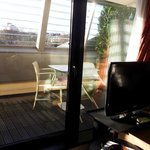 Sundeck view of Room 403 - from inside the room