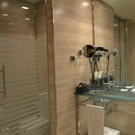 Transparent toilet door - privacy is non existent while you're on the toilet!
