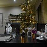 Elegant table setting for Christmas