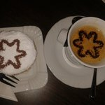 Un délicieux brie au kirsch accompagné d'un bon café, hummm...