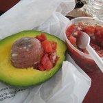 My lunch - Florida Avocado with original salsa