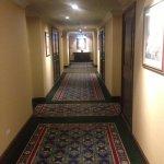 Corridor to our room. Elegant.