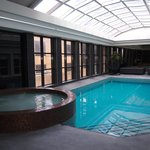 The newly renovated pool & spa area