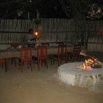 Außenbereich für Abendessen