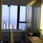 view from the bathroom in the morning