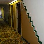 the ground floor corridor