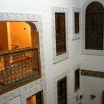Vista dalla suite all'interno del Riad...