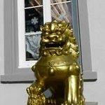 Löwe beim Eingang Chang Cheng Luzern