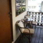 Petite terrasse attenant à la chambre