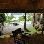 Beach villa #9. View from inside front door