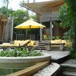 Beach villa pool area