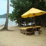 Beach villa private beach
