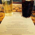 Food menu and Aspall, Suffolk cider