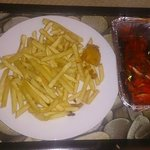 Tandoori Chicken and Chips Delivered.