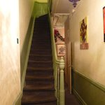 Staircase to upper floors