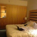 lit double avec 2 couettes simples