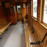 The train inside