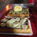 Waffle Kiwi icecream... yummy