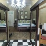 The honeymoon suite with extra large bed