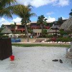 La maya vista dalla spiaggia